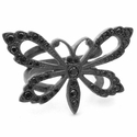 Papillion Ring with Black Diamonds
