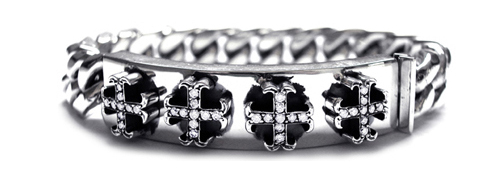 Medium O.G. Cross Quartet Bracelet with Diamonds