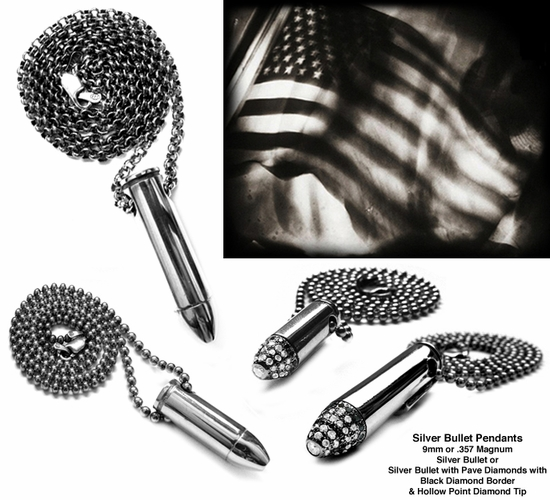 9mm & .357 Bullet Pendants