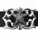 Lacy House Star Buckle Pave Black Diamonds
