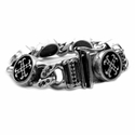 Perfect Collateral Chris James O.G. Cross Bracelet Full Pave Black Diamonds