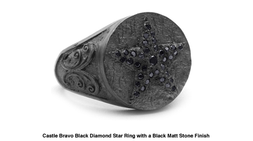 Castle Bravo Black Diamond Star Ring