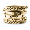 Kamilot Stack Rings 18K Gold