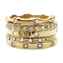 Kamilot Stack Rings 18K Yellow Gold with Diamonds
