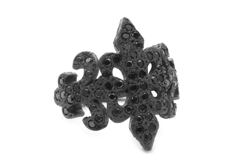 Trinity Tawdry Fleur Band Black Diamonds