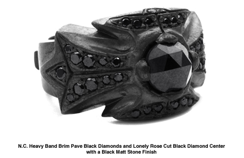 N.C. Heavy Band with Black Diamonds