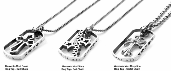 Memento Mori Dog Tags