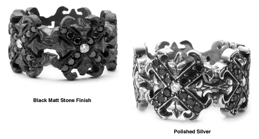 O.G. & N.C. Cross Borderless Envelop Rings with Diamonds