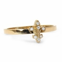 Tiny Fleur Simple Band 18K Gold & Diamonds