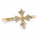 Dainty N.C. Simple Band 18K Gold & Diamonds