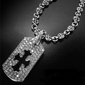 Omerta Dog Tags with Diamonds