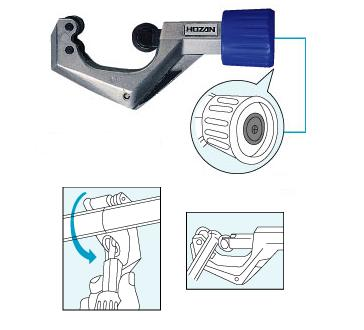 HOZAN K-203 Stainless Steel/Copper Pipe Cutter