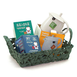 (5) ITEMS-Japan Gourmet Tea Bags & Teabag Teapot -GREEN TEA SPECIAL-Top Seller!