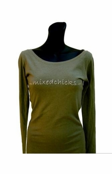 t-shirt - olive - long sleeve
