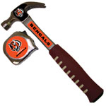 NFL Pro-Grip Hammer & Tape Measure - Cincinnati Bengals