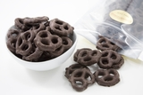 Dark Chocolate Pretzels (25 Pound Case)