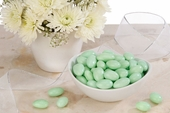Green Jordan Almonds (25 Pound Case)