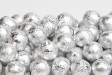 Silver Foiled Milk Chocolate Balls (25 Pound Case)