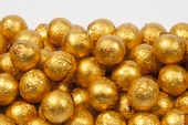 Orange Foiled Milk Chocolate Balls (25 Pound Case)