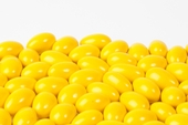 Yellow Chocolate Jordan Almonds (25 Pound Case)