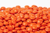 Orange Milk Chocolate M&M's Candy (25 Pound Case)
