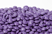 Purple Milk Chocolate M&M's Candy (25 Pound Case)
