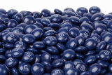 Dark Blue Milk Chocolate M&M's Candy (25 Pound Case)