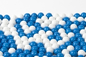 Blue and White Sixlets (1 Pound Bag)