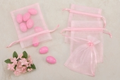 Pink Sheer Organza Party favor Bags