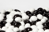 Black and White Chocolate Jordan Almonds (25 Pound Case)