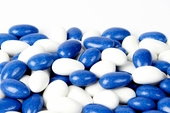 Blue and White Jordan Almonds (1 Pound Bag)
