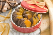 Dark Chocolate Dipped Glazed Apricots Gift Tin