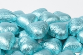 Tiffany Blue Foiled Milk Chocolate Hearts (10 Pound Case)
