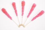 Cherry Wrapped Rock Candy Sticks (10 Pieces)