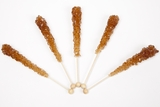 Root Beer Wrapped Rock Candy Sticks (10 Pieces)