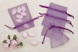 Purple Sheer Organza Party favor Bags