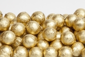 Gold Foiled Milk Chocolate Balls (25 Pound Case)