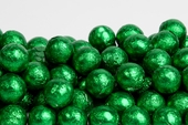 Green Foiled Milk Chocolate Balls (5 Pound Bag)