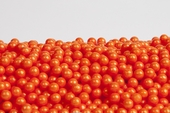 Pearl Orange Sugar Candy Beads (25 Pound Case)