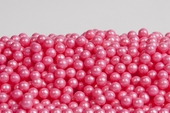 Pearl Bright Pink Sugar Candy Beads (5 Pound Bag)