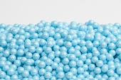 Pearl Powder Blue Sugar Candy Beads (25 Pound Case)