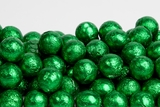 Green Foiled Milk Chocolate Balls (25 Pound Case)
