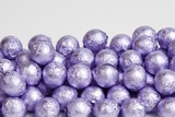 Lavender Foiled Milk Chocolate Balls (25 Pound Case)