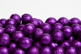 Purple Foiled Milk Chocolate Balls (25 Pound Case)