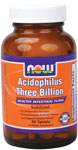 Stabilized Acidophilus Supplement, Three Billion - 90 Tabs, NOW Foods