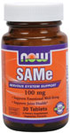 SAMe 100 mg Vegetarian, Enteric Coated - 30 Tabs, NOW Foods