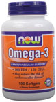 Omega 3 Supplement - 100 Softgels, NOW Foods