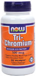 Tri Chromium Supplement 500 mcg with Cinnamon - 90 VCaps, NOW Foods