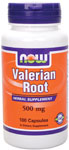 Valerian Root 500 mg - 100 Capsules, NOW Foods
