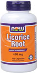 Licorice Root 450 mg - 100 Capsules, NOW Foods